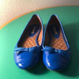 Zara Royal Blue Patent Ballet Flats. Sz 39